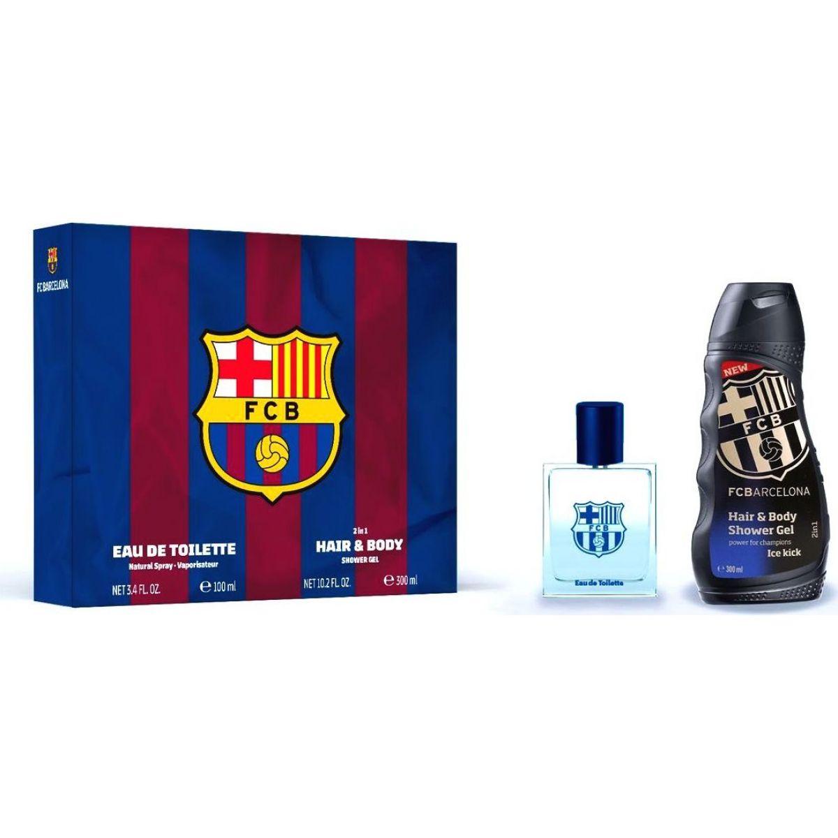 EP Line kosmetika FC Barcelona dárková sada EDT 100 ml Sprchový gel 300 ml