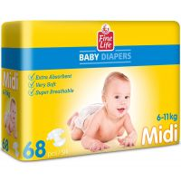 Dollano Fine Life Midi  Diapers 68 pcs