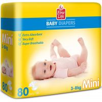 Fine Life Mini Diapers 80 pcs