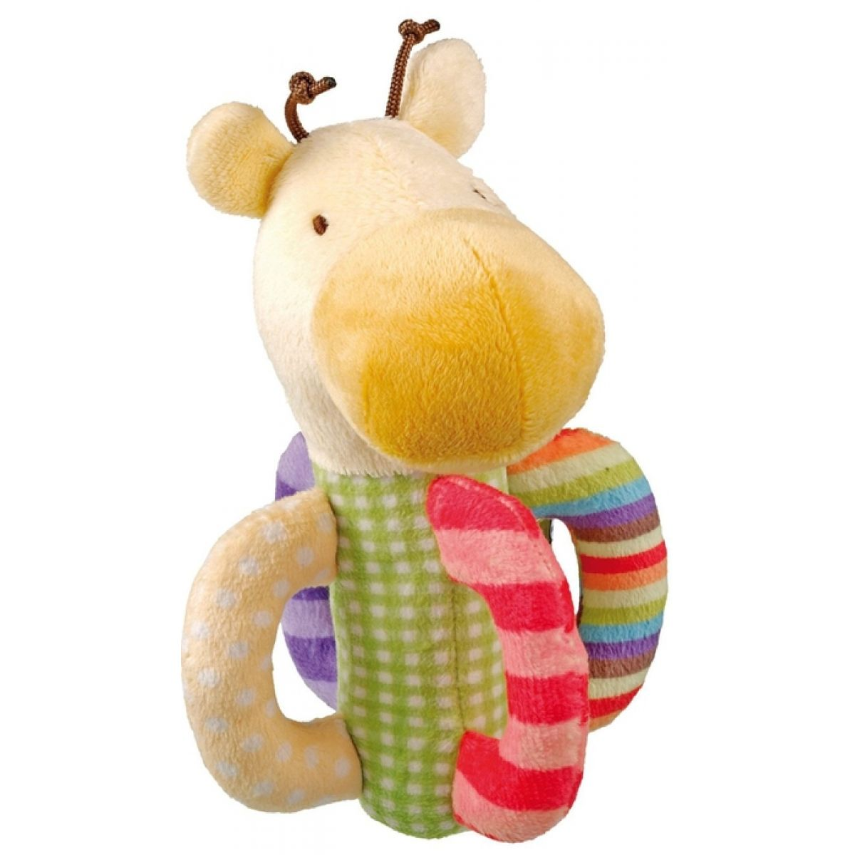 Fisher Price Chrastítko plyš žirafka s rolničkou