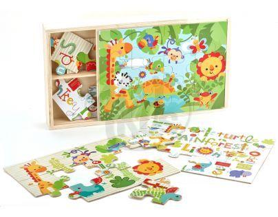 Fisher Price Dřevěné puzzle 3v1
