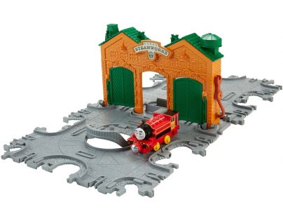 Fisher Price Mašinka Tomáš Take-n-Play Přenosná herní sada koleje - Steamworks Tile Tracks
