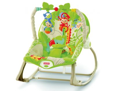 Fisher Price Baby Gear sedátko od miminka po batole rainforest (Fisher Price CBF52)
