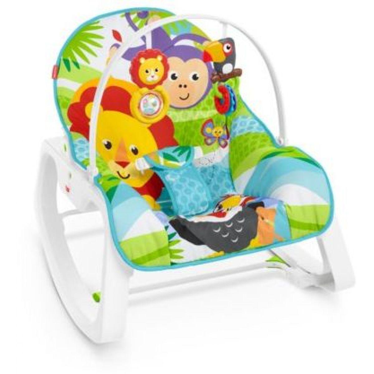 Fisher Price sedátko od miminka po batole zvířátka z džungle 30797