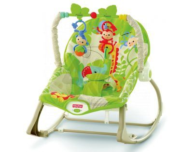 Fisher Price Baby Gear sedátko od miminka po batole rainforest (Fisher Price CBF52)