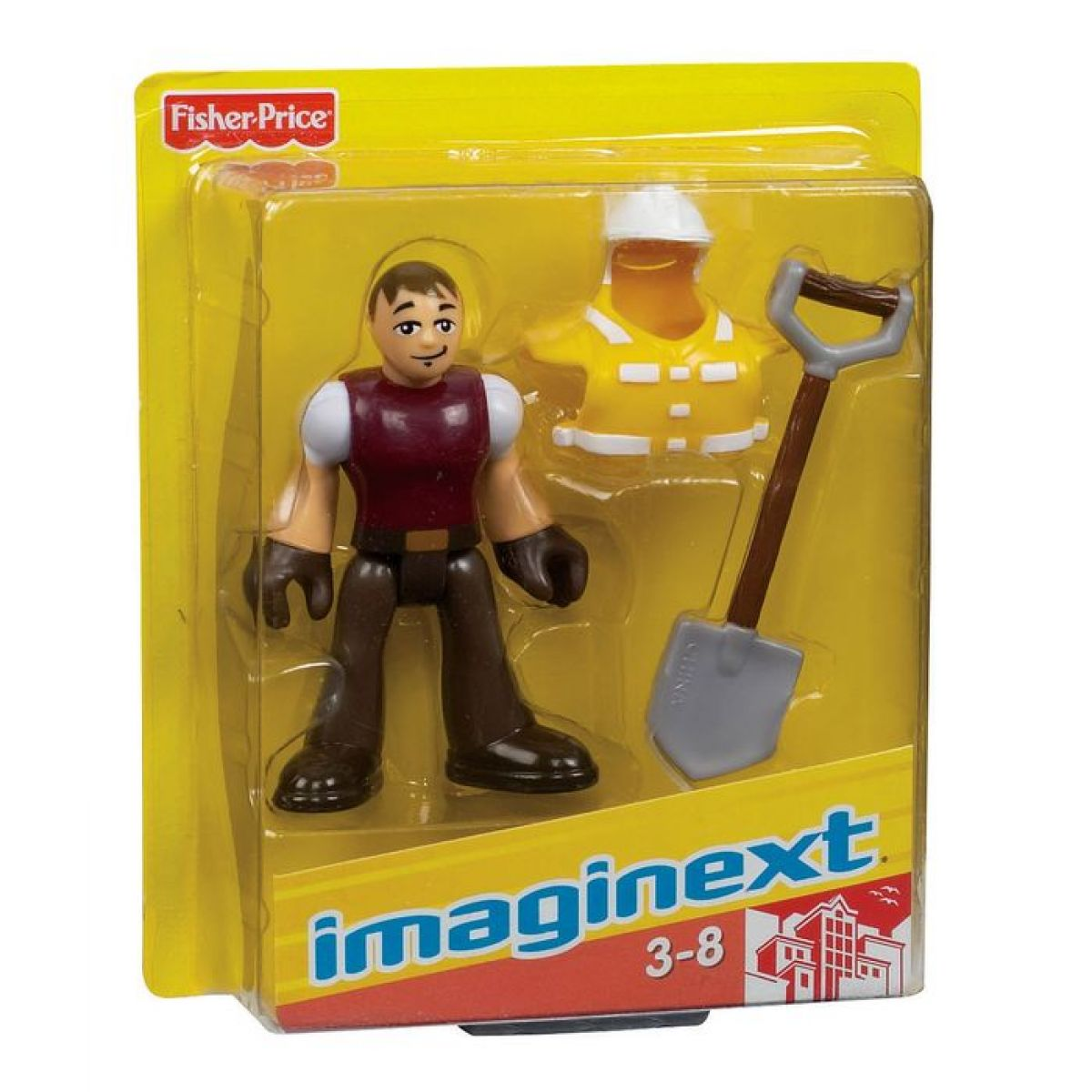 Fisher Price Imaginext kolekce figurek - R4324 Stavební dělník