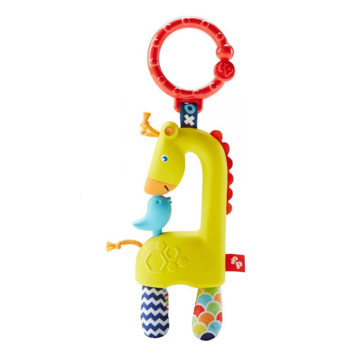 Fisher Price závěsná zvířátka Žirafa s ptáčkem