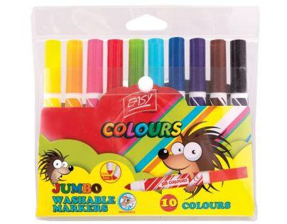Spokey Fixy Jumbo 10 barev vypratelné s tubusem 1,4 cm