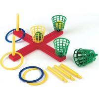 Frabar Hra kříž s košíky, míčky a kroužky