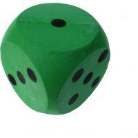 Frabar Soft kostka s puntíky 1-6 Zelená