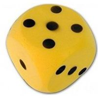 Frabar Soft kostka s puntíky 1-6 Žlutá