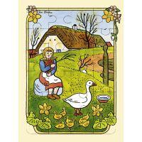 Fragment Lidová říkadla a písničky a puzzle České jaro Josef Lada 2