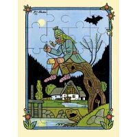 Fragment Lidová říkadla a písničky a puzzle České jaro Josef Lada 4