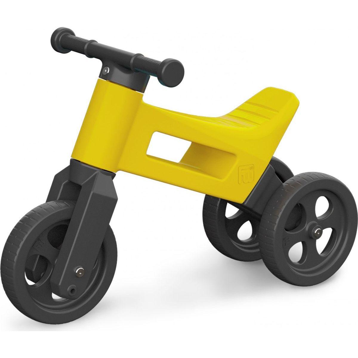 Teddies Funny Wheels Odrážedlo 2v1 žluté