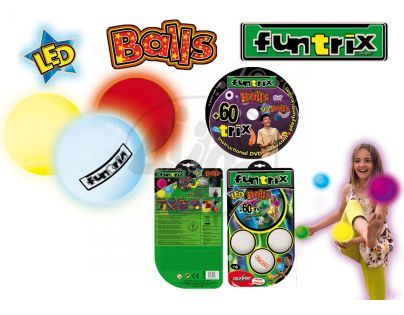 Funtrix Žonglérské míčky svítící a DVD