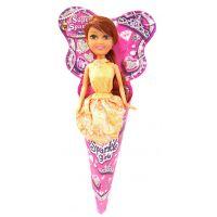 Funville Princezna v kornoutu Sparkle Girlz Oranžová sukně