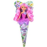 Funville Víla Sparkle Girlz květinová s křídly v kornoutu fialová sukně