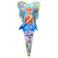 Funville Víla Sparkle Girlz květinová s křídly v kornoutu modrá sukně
