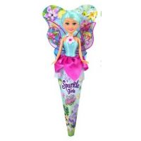 Funville Víla Sparkle Girlz květinová s křídly v kornoutu růžové šatičky