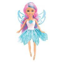 Funville Víla Sparkle Girlz květinová s křídly v kornoutu tyrkysová sukně