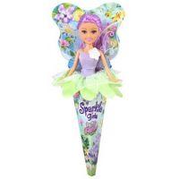 Funville Víla Sparkle Girlz květinová s křídly v kornoutu zelená sukně