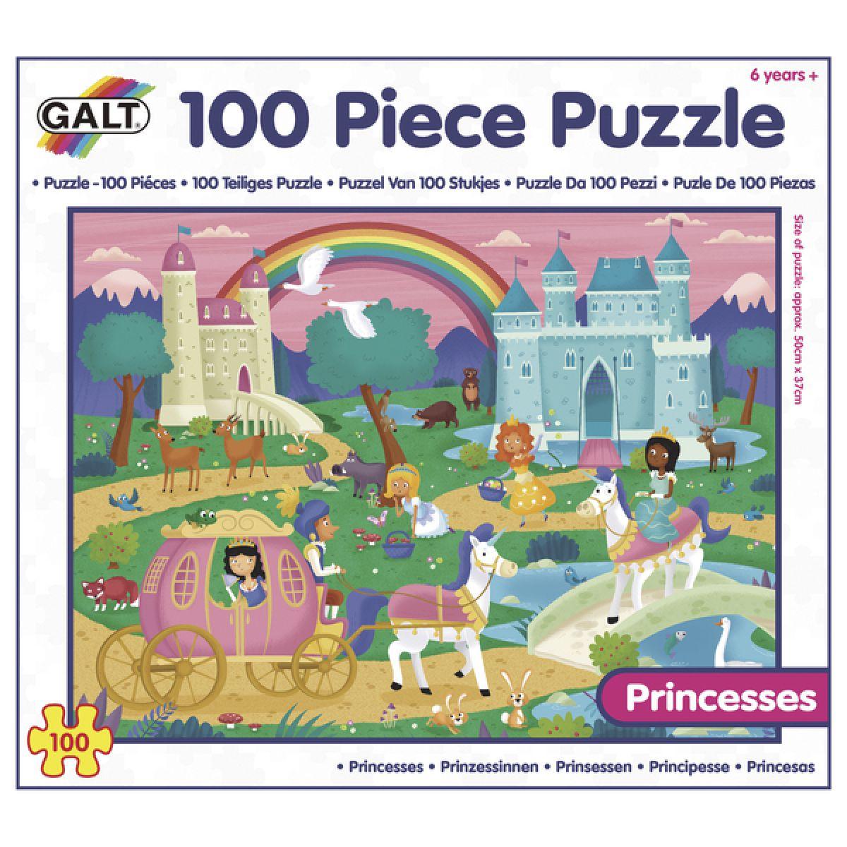 Galt Puzzle v krabici Princezny 100 dílků