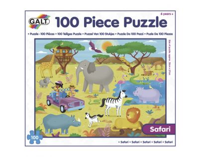 Galt Puzzle v krabici Safari 100 dílků