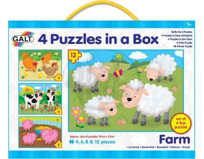 Galt 4 Puzzle v krabici - farma