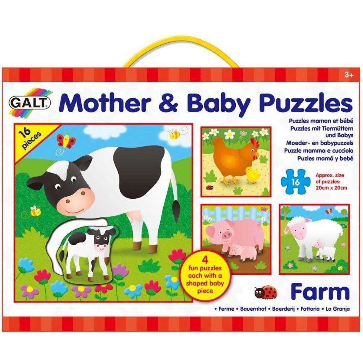 GALT Zvířátka na farmě s mláďátky 4x16 dílků