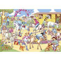 Galt Puzzle třpytivé Přehlídka koní 60 dílků 2