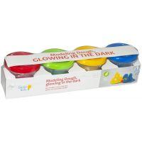 Genio Kids Kelímky s modelínou 4 barvy svítící ve tmě
