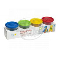 Genio Kids Kelímky velké s modelínou 4 barvy