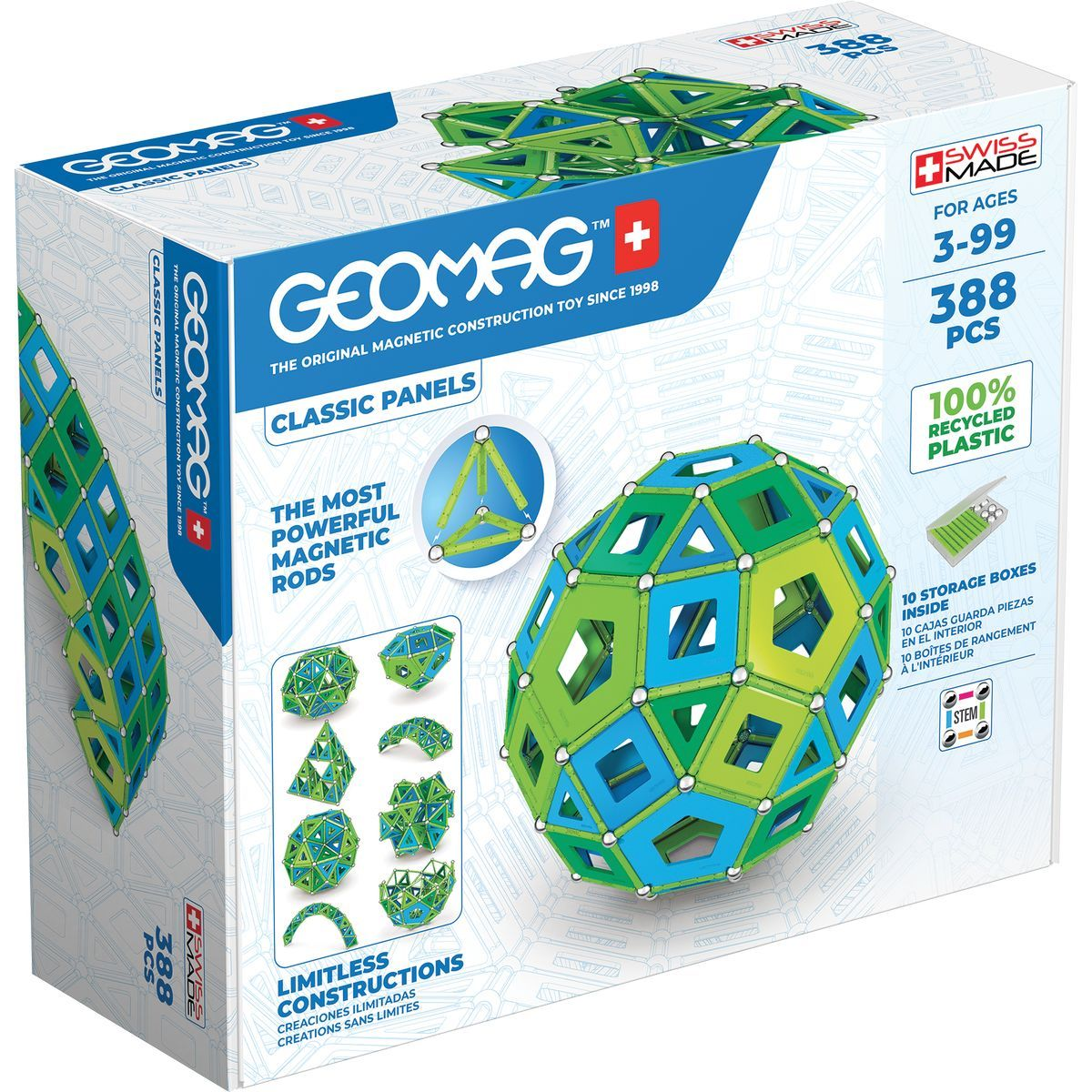 Geomag Classic Panels Masterbox Cold 388 dielikov