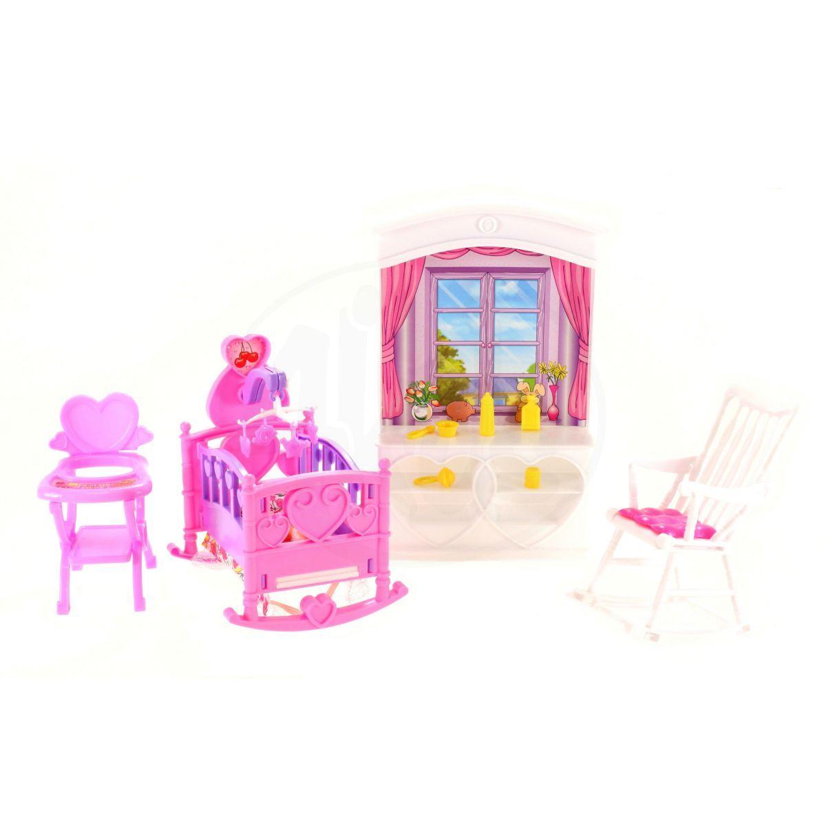 Glorie dětský pokojíček pro panenky typu Barbie