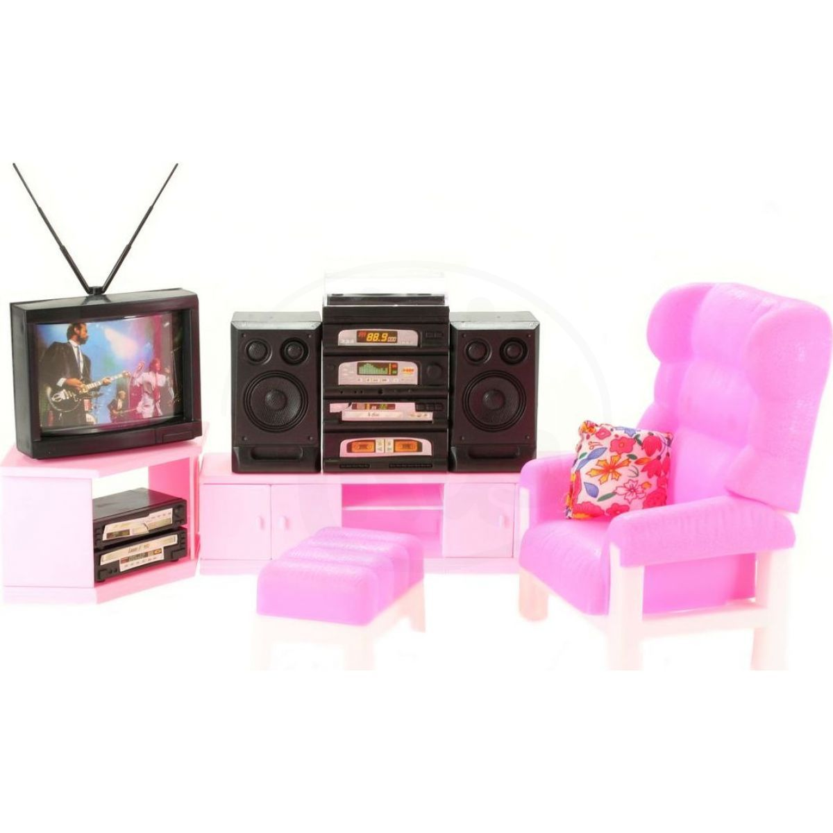 Glorie obývací stěna pro panenky typu Barbie