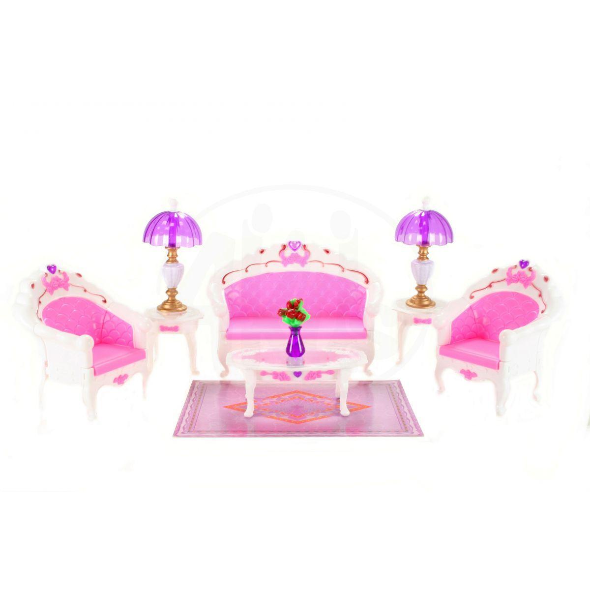 Glorie Sedací souprava s lampičkami pro panenky