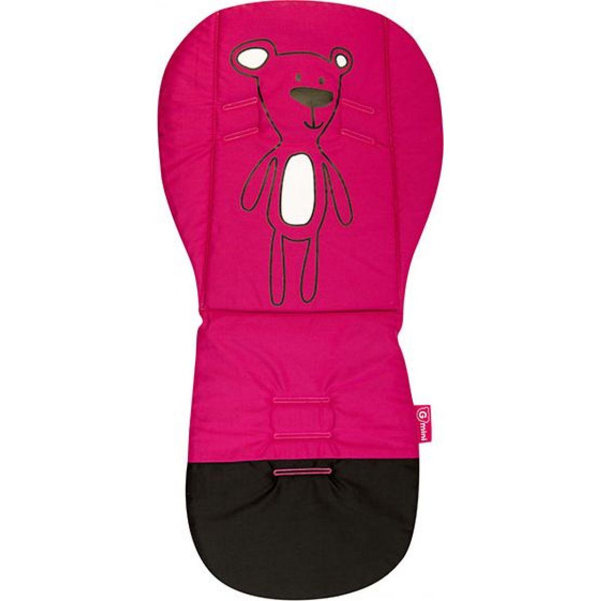 Gmini Podložka do kočárku s paměťovou pěnou - Růžový medvěd