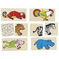 Goki Pexeso a puzzle v jednom Veselá zvířátka