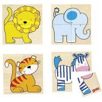 Goki Puzzle a pexeso Divoká zvířátka