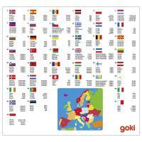 Goki Puzzle na desce Evropa 2