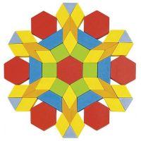 Goki Skládací puzzle geometrické tvary