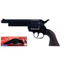 Alltoys Gonher Kovbojský revolver kovový černý 12 ran