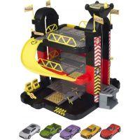 Halsall Teamsterz 3 patrová garáž s 5 autíčky