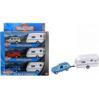 Halsall Teamsterz Auto s bílým karavanem