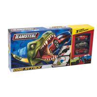 Halsall Teamsterz dráha dinosaurus se 3 autíčky 2