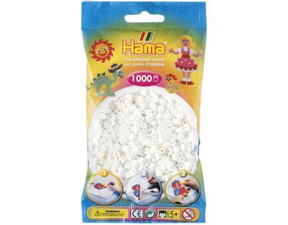 Hama H207-01 - Zažehlovací korálky MIDI bílé v sáčku 1.000 ks