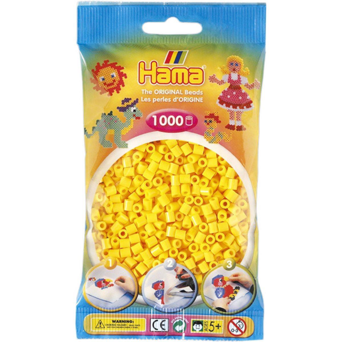 Hama H207-03 Zažehlovací korálky Midi žluté 1000 ks HAMA
