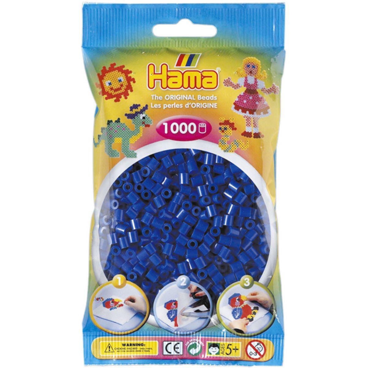 Hama H207-08 Zažehlovací korálky Midi modré 1000 ks HAMA