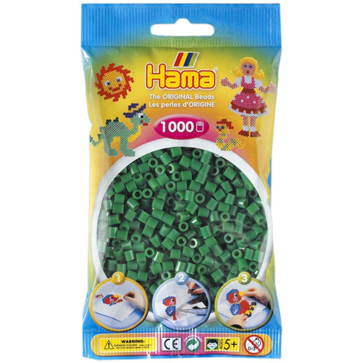 Hama H207-10 Zažehlovací korálky Midi zelené 1000 ks HAMA