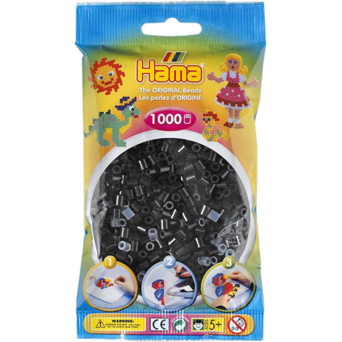 Hama H207-18 Zažehlovací korálky Midi černé 1000 ks HAMA